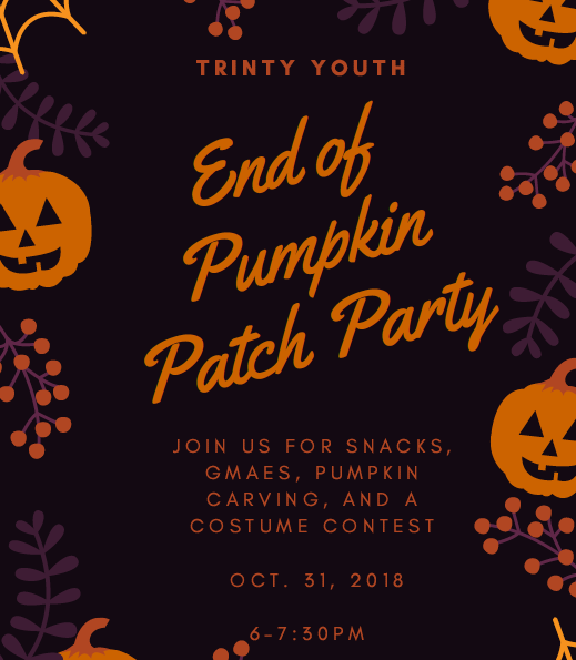 Youth End of Pumpkin Patch Party