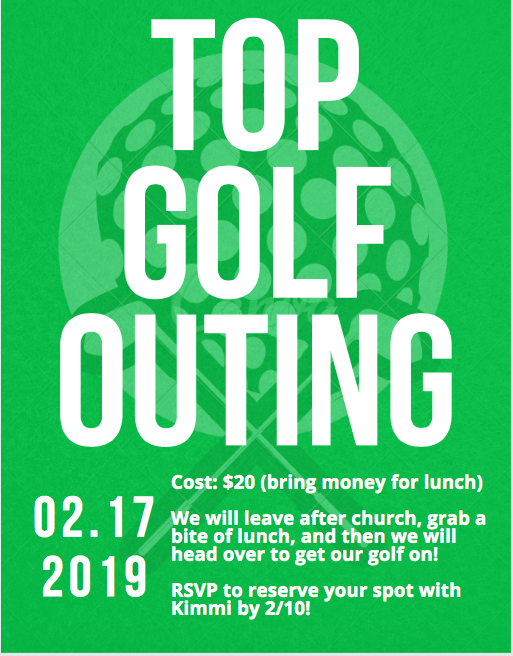 Youth Top Golf Outing