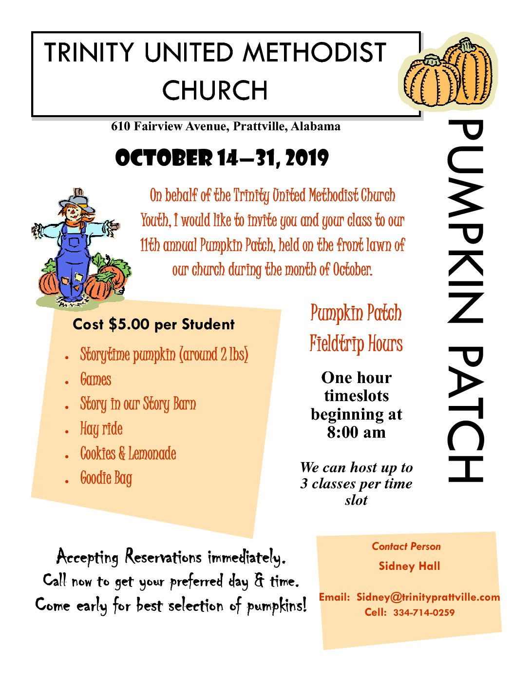 Pumpkin Patch Information